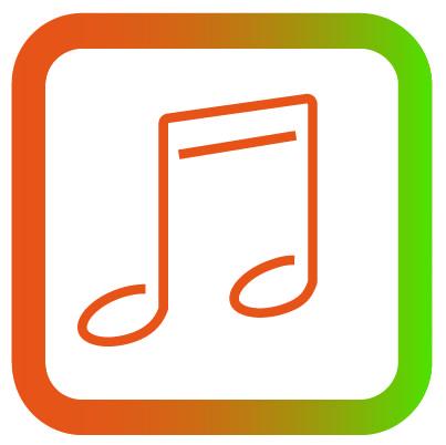 Icon dansen zingen en muziek